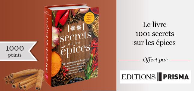 20 livres 1001 secrets sur les épices